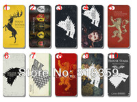 For Apple iPhone Plastic For Christmas free shipping!new skin design game of thrones house stark case hard back cover for iphone 5 5th 10PCS lot