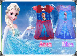 Wholesale New Summer Fashion Hot Frozen Dress Girl Frozen Dress The Lowest Price Ship Out Within Days Freeshipping