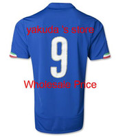 Italy 2014 #9 Home Soccer Jerseys, Italy 2014 World Cup Home ...