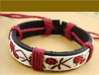Charm Bracelets Bohemian Unisex Chinese style bracelet, fashion jewelry, ribbon lace bracelet, wholesale leather bracelets notes, cheap jewelry,Friendship Bracelet.10pcs.PH