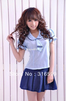 Wholesale lingerie Sexy Sailor Costume Sexy Costume Women Cheerleading Uniforms Sexy Dress Drop ship US1008