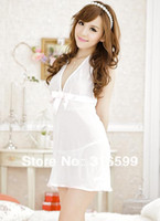 Wholesale lingerie Sex backless transparent dress white fairy angel night dress sex doll photo Drop ship US1679A
