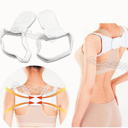 Wholesale New Adjustable Unisex Magnetic Therapy Back Orthopedic Support Brace Belt Band Painless Posture Shoulder Corrector
