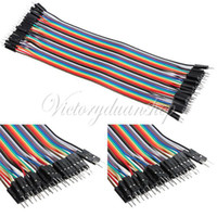 Wholesale Male to Male Color Breadboard Cable Jump Jumper Wire For Arduino Shield cm mm p p Pin