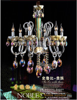Wholesale Luxurious High Quality Crystal Chandeliers Light Glass Lamp in stock