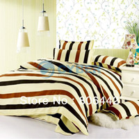 Wholesale New Bed Bedding Set Stripe Duvet Cover Bed Set Quilt Cover Bedspread Pillowcase Types