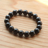 Cheap Spirit of the Philippine natural crystal top Class 5A black tourmaline bracelet male and female models transporter bracelets Buddhist Qibao