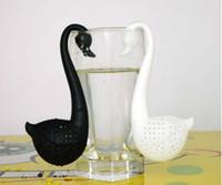 Wholesale Low price Swan Shaped Tea Infuser Tea Filter Spoon Herbal Tea Strainer Best gift