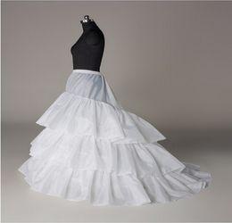 Wholesale Newest Gorgeous Exquisite White Wedding Gown Train Petticoat Crinoline Underskirt Layers Bridal Accessories EM00998