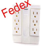 Wholesale Fedex Side Socket Swivel Outlet Multi Plug Outlet With Surge Protection Lightening Protection American Standard Plug