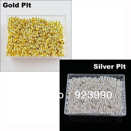 Wholesale Copper Round Silver Gold Plated Crimp Beads mm For Jewelry Making Craft DIY