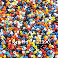 Bead Caps Fashion Beads Free Shipping 2000Pcs Glass Seed Spacer Beads Charms 2mm Red Blue Black White Colored Mixed For Jewelry Making Craft DIY