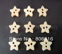 Quilt Accessories Buttons look at the photo (wood color) 12MM (500pcs) Star Shape Fashion Wood Buttons Children Garment Accessories