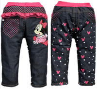 Wholesale new style autumn children jeans fashion girl jeans denim pants top quality baby trousers Retail