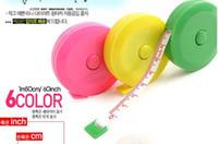 plastic ruler - 1000pcs Mini Retractable Tape Plastic Tailoring Soft Tape Measure Sewing Flexible Ruler
