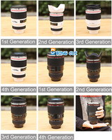 Wholesale Lens Cup Travel Thermal Liner Cups Camera Mug Stainless Steel Mugs Collectors st nd rd th Generation Black White ml