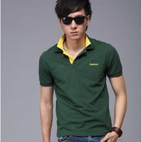 Cheap Men Summer Newest T shirt Best Cotton  Double Collar
