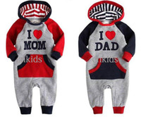 Boy Summer 100% Cotton Long Cotton I Love Mama and Dad Baby Romper,Baby Jumper Suit.Infant RomperRR40326-81