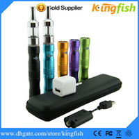 Wholesale Kingfish Ego Electronic Cigarette vapor cigarettes ego X6 Pyrex Glass protank atomizer protank II ego Kit e cigars cheap top ego cigarette