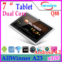 Wholesale DHL inch dual core android tablet pc Q88 pro Allwinner A23 android dual camera WIFI OTG capacitive screen YX MID