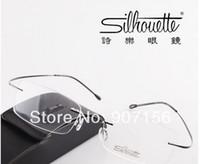 Wholesale top grade silhouette eyes box ultra light rack rimless eyeglasses frame glasses myopia frame optical glasses