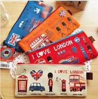Свободная перевозка груза-нового британского стиля над Лондона Оксфорд Брэд цепь сумка студента пенал Косметический мешок