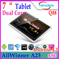 Wholesale DHL inch Allwinner A23 Tablet Touch Screen Capacitive Dual core MB mini Cheap Android Tablet PC Q88 RW MID