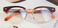 AOJO round glasses frame , Tea color, Black and blue glasses f...