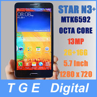 WCDMA Thai Android Star Ulefone N3+ Note 3 Cell Phones MTK6592 Octa Core 1.7GHz 5.7 Inch 1280 x 720 Android 4.2 2G RAM 16G ROM 13MP Russian Language Smartphone