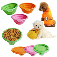 Wholesale colorful dog folding bowl silicone foliding bowl for dog and cats Pet high quality lowest price necessary soft water out Pet bowl
