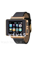 Cheap Watch phone i8 JAVA Compass Torch Bluetooth FM Skype Facebook Yahoo Touch Screen Watch Mobile phone Single SIM Card