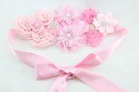 Wholesale new Wedding Sash flower girl sash birthday sash outfit sash maternity sash Maternity Flower Sash Belt