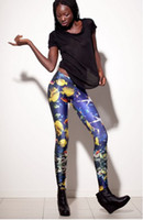 Leggings Skinny,Slim Capris New arrival women's sexy leggings 2014 summer europe fashion digital print tropical fish galaxy leggings ladies leisure Tights Pants J66