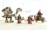 Wholesale New arrival League LOL Purple Camp Resin Dogface Legends Action figures