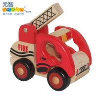 5-7 Years Truck Wooden Children Kids Baby Wooden Mlv Series i - Fire Truck Engine Engineering Car Toy Set Diy Diecast Model Little Rigs Collection