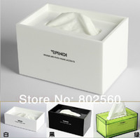 Wholesale FREEshipping Quality virgin material acrylic tissue box fashion table napkin pumping paper box home
