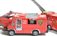 5-7 Years Truck Metal Mini Metal Alloy Red Fire Rescue Truck Engine Toys for Kids Diecast