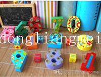 Wholesale pc Wooden Number Digital Game Sticks Box Educational Toy Puzzle Teaching Aids Set Materials Z14