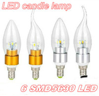 Wholesale 2014 NEW chandelier bulbs E14 E27 V Led Candle bulb led lamps Energy saving lamps led lighting W W SMD leds cree DHL FREE