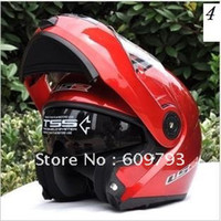 Wholesale LS2 FF386 Red Full Face Moudular Flip Up Dual Visor Motorcycle Helmet Many Colors For Choosen