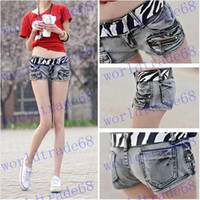 Women low rise jeans - Brand New Fashion summer women s short jeans zipper shorts hot pants Low rise jeans Send belt