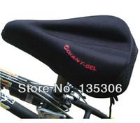 Wholesale Silicone Thick Soft Gel Bike Bicycle Saddle seat Cover Cushion Pad Cushion Black