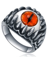 Wholesale FACTORY PRICE stainless steel biker demen eyes ring