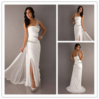 New Arrival 2014 Elegant One- Shoulder Chiffon Prom Dresses B...