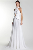 Basil Soda 2014 Halter Long Chiffon Evening Dresses Pleat Fr...