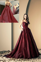 Reference Images wine grapes - Ziad Nakad Luxury Evening Dresses Wine Red Backless Sleeveless Sequins Applique Ball Gown Prom Dress Floor Length Formal Dress