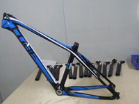 Wholesale 2014 High top mountain bike carbon frame black and blue MTB carbon frame er size carbon bicycle frame with amazing gifts