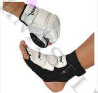 Wholesale free ship sanda boxing Karate Judo taekwondo sandbags gloves hand gauntlets Protector nursing ankle fighting foot ankle protective gear