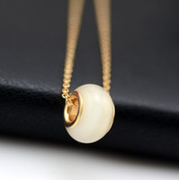 Wholesale The new K gold plated common opal pendant necklace beads transit fashionable men and women y047