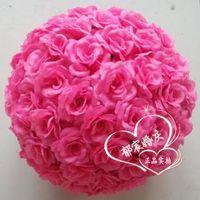 Wholesale The diameter of cm artificial flower silk rose balls artificial flower bouquet decoration rose ball wedding decoration